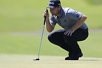 Tyrrell Hatton (ENG) on the 12th green during Thursday's Round 1 of the 118th U.S. Open Championship 2018, held at Shinnecock Hills Club, Southampton, New Jersey, USA. 14th June 2018.<br /> Picture: Eoin Clarke | Golffile<br /> <br /> <br /> All photos usage must carry mandatory copyright credit (&copy; Golffile | Eoin Clarke)