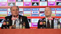 FUSSBALL  1. BUNDESLIGA   SAISON  2012/2013  03.07.2012 Pressekonferenz beim FC Bayern Muenchen  Praesident Uli Hoeness, Sportvorstand Matthias Sammer  (v. li.)