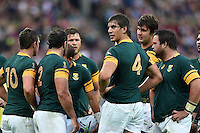 Eben Etzebeth of South Africa looks on. Rugby World Cup Pool B match between South Africa and the USA on October 7, 2015 at The Stadium, Queen Elizabeth Olympic Park in London, England. Photo by: Patrick Khachfe / Onside Images