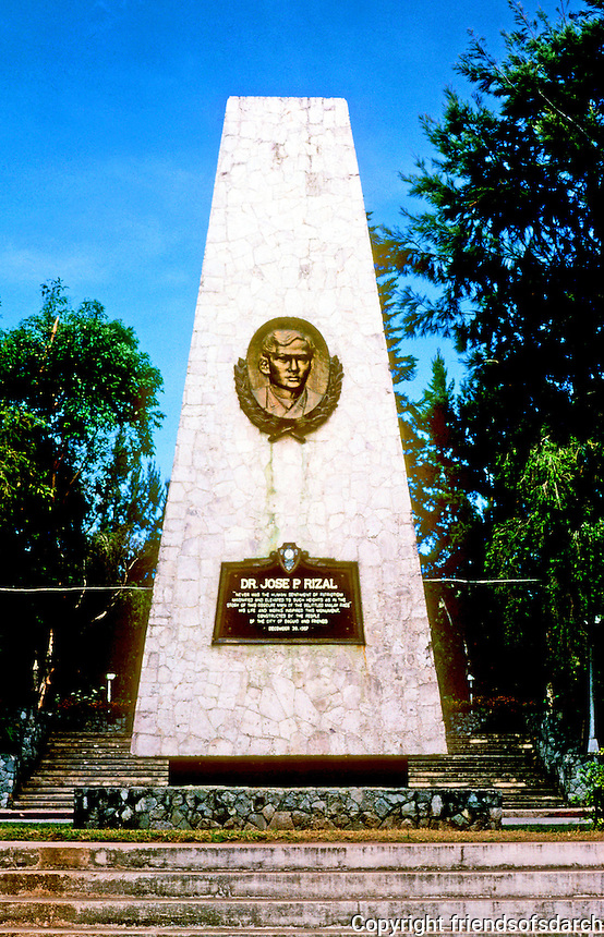 Philippines: Baguio--The Philippines Monument to Jose Rizal. Photo '82.