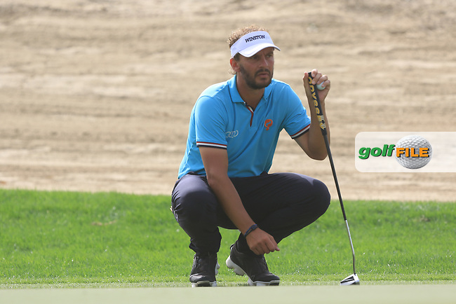 Joost Luiten (NED) on the 3rd green during Round 1 of the Omega Dubai Desert Classic, Emirates Golf Club, Dubai,  United Arab Emirates. 24/01/2019<br /> Picture: Golffile | Thos Caffrey<br /> <br /> <br /> All photo usage must carry mandatory copyright credit (&copy; Golffile | Thos Caffrey)