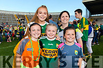 Kerry Fans at the Kerry v Kildare championship clash on Saturday evening at Fitzgerald stadium, from left: Caoimhe O'Halloran, Shauna and Rebecca O'Leary, Geraldine and Sadhbh O'Halloran (Kilcummin).