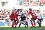 Donnacha Ryan.RaboDirect Pro 12.Scarlets v Munster..Parc Y Scarlets.21.04.12.©Steve Pope