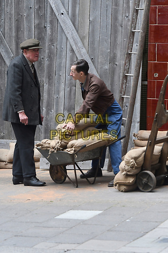 "London 01 Sept. Filming of ""Libres"", a historical drama that returns to a dark period of France through the eyes of Charles de Gaulle and his wife Yvonne. At the helm of this cinematic ""liner"", the talented Bastiais director, Gabriel Le Bomin.<br /> London, England on September 01, 2019.<br /> CAP/IH<br /> ©Ivan Harris/Capital Pictures"
