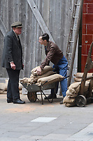 """London 01 Sept. Filming of """"Libres"""", a historical drama that returns to a dark period of France through the eyes of Charles de Gaulle and his wife Yvonne. At the helm of this cinematic """"liner"""", the talented Bastiais director, Gabriel Le Bomin.<br /> London, England on September 01, 2019.<br /> CAP/IH<br /> ©Ivan Harris/Capital Pictures"""