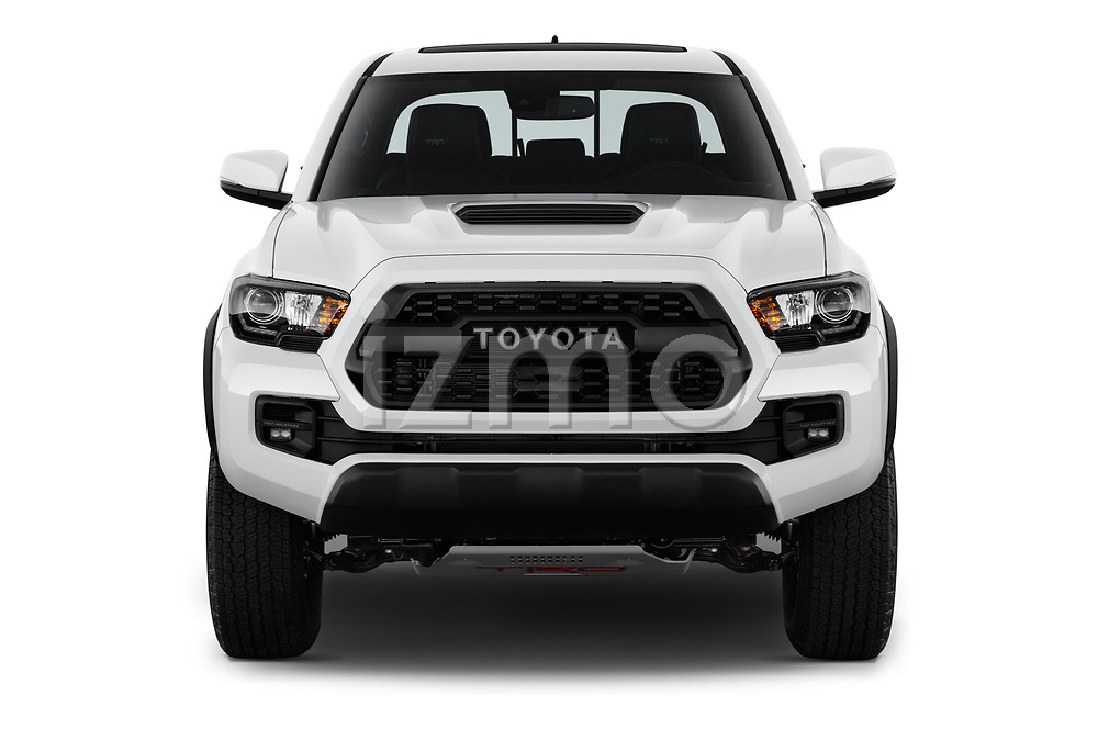 Car photography straight front view of a 2019 Toyota Tacoma TRD Pro 4 Door Pick Up