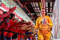 HARRISON, NJ - SEPTEMBER 29: Megan Hinz #35 of Sky Blue FC during a game between Orlando Pride and Sky Blue FC at Red Bull Arena on September 29, 2019 in Harrison, New Jersey.