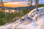 Eagle Falls at sunrise near Lake Tahoe in California