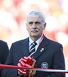 01 July 2007: Canadian Soccer Association President Colin Linford (r) during a ribbon cutting ceremony before the game. At the National Soccer Stadium, also known as BMO Field, in Toronto, Ontario, Canada. Chile's Under-20 Men's National Team defeated Canada's Under-20 Men's National Team 3-0 in a Group A opening round match during the FIFA U-20 World Cup Canada 2007 tournament.