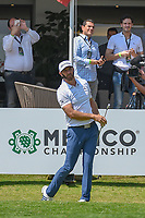 Dustin Johnson (USA) watches his tee shot on 10 during round 1 of the World Golf Championships, Mexico, Club De Golf Chapultepec, Mexico City, Mexico. 3/1/2018.<br /> Picture: Golffile | Ken Murray<br /> <br /> <br /> All photo usage must carry mandatory copyright credit (&copy; Golffile | Ken Murray)
