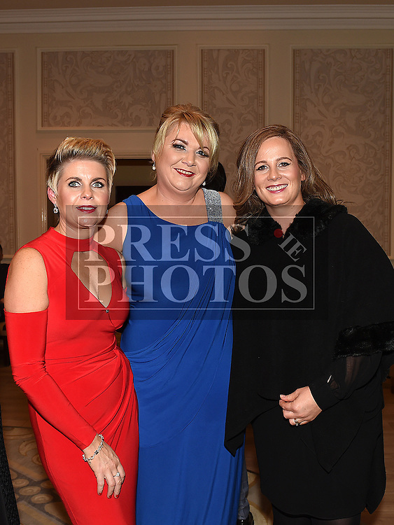 Lorraine Murray, Meabh Hennessy and Emer Skelly at the Baile Atha Fherdia Traders Awards in the Nuremore hotel Carrickmacross. Photo:Colin Bell/pressphotos.ie