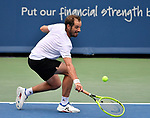 Richard Gasquet plays against Roberto Bautista Agut at the Western & Southern Open being played on August  16, 2019 at Lindner Family Tennis Center in Mason, Ohio.  ©Leslie Billman/Tennisclix