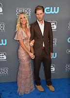 Kaley Cuoco &amp; Karl Cook at the 23rd Annual Critics' Choice Awards at Barker Hangar, Santa Monica, USA 11 Jan. 2018<br /> Picture: Paul Smith/Featureflash/SilverHub 0208 004 5359 sales@silverhubmedia.com