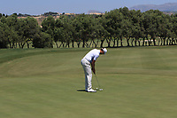 Victor Perez (FRA) on the 2nd green during Round 3 of the Rocco Forte Sicilian Open 2018 played at Verdura Resort, Agrigento, Sicily, Italy on Saturday 12th May 2018.<br /> Picture:  Thos Caffrey / www.golffile.ie<br /> <br /> All photo usage must carry mandatory copyright credit (&copy; Golffile   Thos Caffrey)