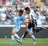 Calcio, Serie A: Lazio vs Juventus. Roma, stadio Olimpico, 27 agosto 2016.<br /> Lazio&rsquo;s Marco Parolo, left, and Juventus&rsquo; Sami Khedira fight for the ball during the Serie A soccer match between Lazio and Juventus, at Rome's Olympic stadium, 27 August 2016. Juventus won 1-0.<br /> UPDATE IMAGES PRESS/Isabella Bonotto
