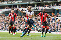 Harry Kane of Tottenham Hotspur shoots at goal during the Premier League match between Tottenham Hotspur and Bournemouth at White Hart Lane, London, England on 15 April 2017. Photo by Mark  Hawkins / PRiME Media Images.