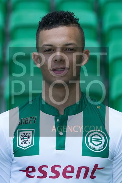 29-06-2015, Presentatiegids, eerste, team, seizoen, 2015-2016, 2015 - 2016, spelerfoto, speler, spelersfoto, Desevio Payne of FC Groningen,