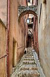 Narrow staircase in Roussillon