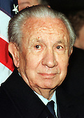 Former International Olympic Committee President Juan Antonio Samaranch passed away in Barcelona, Spain on Wednesday, April 21, 2010. He was 89 years old.  In this file photo dated December 14, 1999, Samaranch appears at a Washington press confrence on 14 December, 1999 to announce agreement on improving the World Anti-Doping Agency (WADA)..Credit: Ron Sachs / CNP