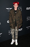 HOLLYWOOD, CA - AUGUST 10: Nats Getty, at OUT Magazine's Inaugural POWER 50 Gala &amp; Awards Presentation at the Goya Studios in Los Angeles, California on August 10, 2017.<br /> CAP/MPIFS<br /> &copy;MPIFS/Capital Pictures