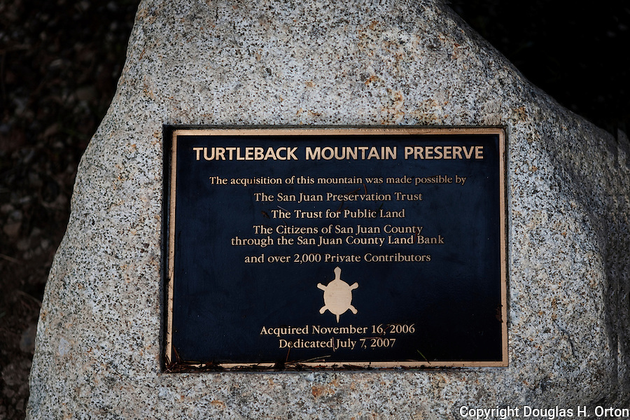 Turtleback Mountain Preserve Trail Sign, Dedication Plaque