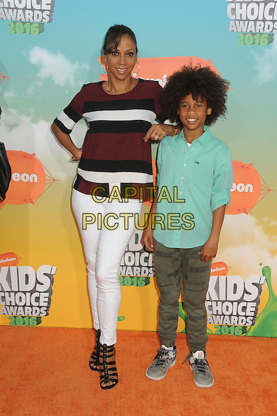 12 March 2016 - Inglewood, California - Holly Robinson Peete, Roman Peete. 2016 Nickelodeon Kids' Choice Awards held at The Forum.  <br /> CAP/ADM/BP<br /> &copy;BP/ADM/Capital Pictures