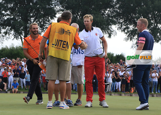 Joost Luiten (NED) wins the 2016 KLM Open at the Dutch Golf Club at Spijk in The Netherlands on  Sunday 11/09/16.<br /> Picture: Thos Caffrey | Golffile