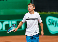 Netherlands, Rotterdam August 05, 2015, Tennis,  National Junior Championships, NJK, TV Victoria, Freek van Donselaar<br /> Photo: Tennisimages/Henk Koster