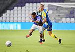 2018-08-10 / Voetbal / Seizoen 2018-2019 / KFCO Beerschot-Wilrijk - KVC Westerlo / Gilles De Waele (r. Wes) met Tarik Tissoudali<br /> <br /> ,Foto: Mpics