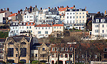 Houses on a hillside, St Peter Port, Guernsey, Channel Islands, UK