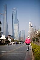 Una veduta della zona finanziaria di Shanghai.<br /> A view of the financial district of Shanghai