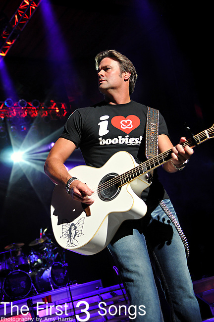 Troy Gentry of Montgomery Gentry performs at the Blossom Music Center in Cleveland, Ohio on May 20, 2010.