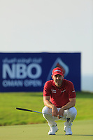 Paul Waring (ENG) during the first round of the NBO Open played at Al Mouj Golf, Muscat, Sultanate of Oman. <br /> 15/02/2018.<br /> Picture: Golffile | Phil Inglis<br /> <br /> <br /> All photo usage must carry mandatory copyright credit (&copy; Golffile | Phil Inglis)