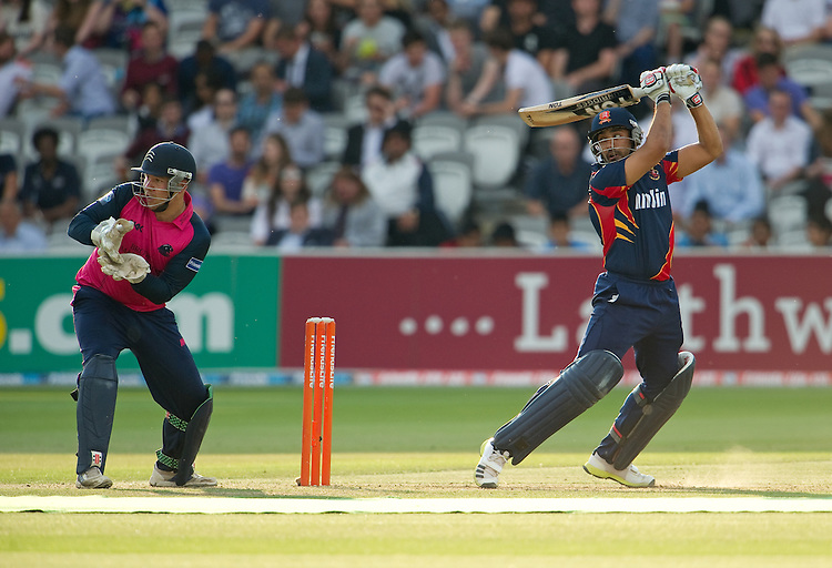 Essex Eagles' Ravi Bopara in action against Middlesex Panthers<br /> <br />  (Photo by Ashley Western/CameraSport) <br /> County Cricket - Friends Life t20 2013 - Middlesex v Essex - Thursday 04th July 2013 - Lord's, London <br /> <br />  &copy; CameraSport - 43 Linden Ave. Countesthorpe. Leicester. England. LE8 5PG - Tel: +44 (0) 116 277 4147 - admin@camerasport.com - www.camerasport.com