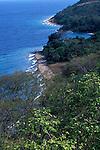 View north along Lake Tanganyika shore. Gombe National Park, Tanzania