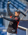 3 April 2017: Miami Marlins outfielder Ichiro Suzuki awaits his turn in the batting cage prior to a game against the Washington Nationals on Opening Day at Nationals Park in Washington, DC. The Nationals defeated the Marlins 4-2 to open the 2017 MLB Season. Mandatory Credit: Ed Wolfstein Photo *** RAW (NEF) Image File Available ***