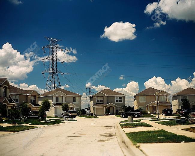 Suburban housing and powerlines. Orlando, Florida. June-October 2006.
