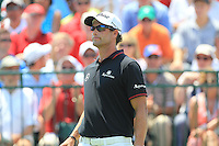 Adam Scott (AUS) waits to tee off the 1st tee to start his match Sunday's Final Round of the 94th PGA Golf Championship at The Ocean Course, Kiawah Island, South Carolina, USA 11th August 2012 (Photo Eoin Clarke/www.golffile.ie)