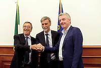 Roma, 17 Agosto 2016<br />  Il Ministro delle Infrastrutture e dei Trasporti Graziano Delrio insieme al Presidente Enac Vito Riggio e Michael O' Leary, Chief Executive di Ryanair hanno incontrato la stampa per illustrare il piano di sviluppo 2017 di Ryanair in Italia, a seguito delle politiche di attrazione degli investimenti del Governo.