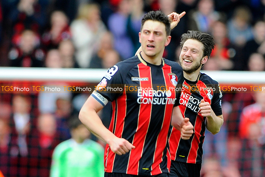 Harry Arter of AFC Bournemouth right celebrates scoring the second goal - AFC Bournemouth vs Middlesbrough - Sky Bet Championship Football at the Goldsands Stadium, Bournemouth, Dorset - 21/03/15 - MANDATORY CREDIT: Denis Murphy/TGSPHOTO - Self billing applies where appropriate - contact@tgsphoto.co.uk - NO UNPAID USE