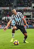 29th January 2019, St James Park, Newcastle upon Tyne, England; EPL Premier League football, Newcastle United versus Manchester City; Jose Salomon Rondon of Newcastle United controls the ball