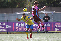 Coby Rowe of Haringey and Ollie Sitchduring Haringey Borough vs Corinthian Casuals, BetVictor League Premier Division Football at Coles Park Stadium on 10th August 2019