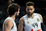 Real Madrid's players Sergio Llull and Jeffery Taylor during Turkish Airlines Euroleague at Barclaycard Center in Madrid, February 05, 2016<br /> (ALTERPHOTOS/BorjaB.Hojas)