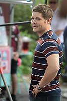 www.acepixs.com<br /> July 11, 2017 New York City<br /> <br /> Adam Devine was seen filming the movie 'Isn't It Romantic' in Central Park on July 11, 2017 in New York City.<br /> <br /> Credit: Kristin Callahan/ACE Pictures<br /> <br /> <br /> Tel: (646) 769 0430<br /> e-mail: info@acepixs.com