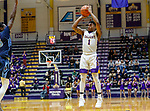 University at Albany men's basketball defeats Maine at the  SEFCU Arena, Feb. 24, 2018.  Costa Anderson (#1). (Bruce Dudek / Eclipse Sportswire)