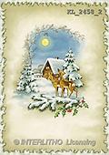 Interlitho, CHRISTMAS SANTA, SNOWMAN, nostalgic, paintings, landscape, deer(KL2458/2,#X#) Weihnachten, nostalgisch, Navidad, nostálgico, illustrations, pinturas
