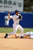 March 14, 2010:  Infielder Kevin Haas (27) of the Akron Zips vs. the Yale Bulldogs in a game at Chain of Lakes Park in Winter Haven, FL.  Photo By Mike Janes/Four Seam Images
