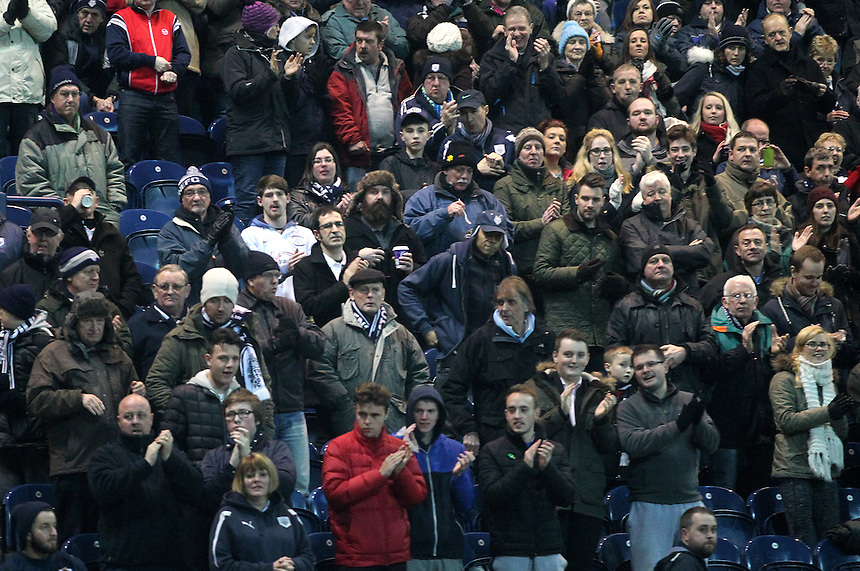 Preston North End's Fans<br /> <br /> Photographer Mick |Walker/CameraSport<br /> <br /> Football - The Football League Sky Bet League One - Preston North End v Peterborough United - Tuesday 17th March 2015 - Deepdale - Preston<br /> <br /> &copy; CameraSport - 43 Linden Ave. Countesthorpe. Leicester. England. LE8 5PG - Tel: +44 (0) 116 277 4147 - admin@camerasport.com - www.camerasport.com