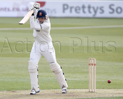 27.03.2014 Chelmsford, England.   Nick Browne in batting action during the Essex and Surrey Pre-Season Friendly match from The Essex County Ground, Chelmsford