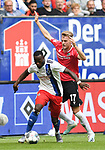 01.09.2019,  GER; 2. FBL, Hamburger SV vs Hannover 96 ,DFL REGULATIONS PROHIBIT ANY USE OF PHOTOGRAPHS AS IMAGE SEQUENCES AND/OR QUASI-VIDEO, im Bild Khaled Narey (Hamburg #07) versucht sich gegen Marvin Ducksch (Hannover #17) durchzusetzen Foto © nordphoto / Witke *** Local Caption ***